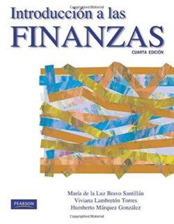 PORTADA DEL LIBRO INTRODUCCIÓN A LAS FINANZAS ISBN 9786073201674