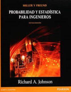 PORTADA DEL LIBRO PROBABILIDAD Y ESTADÍSTICA PARA INGENIEROS ISBN 9786073207997