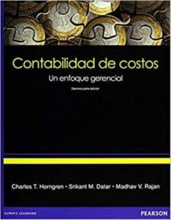 Portada del libro contabilidad de costos un enfoque gerencial - ISBN 9786073210249