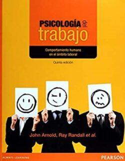 Portada del libro Psicología del trabajo - ISBN 9786073214780