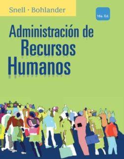 PORTADA DEL LIBRO ADMINISTRACIÓN DE RECURSOS HUMANOS ISBN 9786074818901