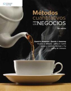 Portada de libro Métodos cuantitativos para los negocios ISBN 9786075228457