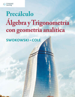 Portada del libro Precálculo álgebra y trigonometria con geometría analítica ISBN 9786075265469