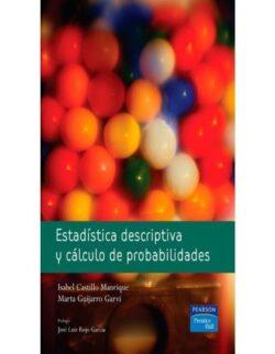 PORTADA DEL LIBRO ESTADÍSTICA DESCRIPTIVA Y CÁLCULO DE PROBABILIDADES ISBN 9788420548067