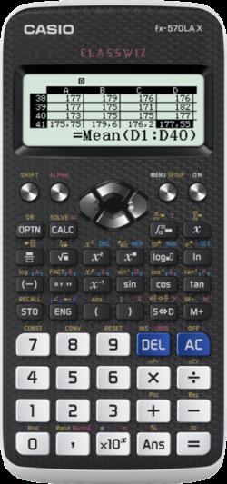 Imagen Calculadora Casio FX 570 LAX carga a batería